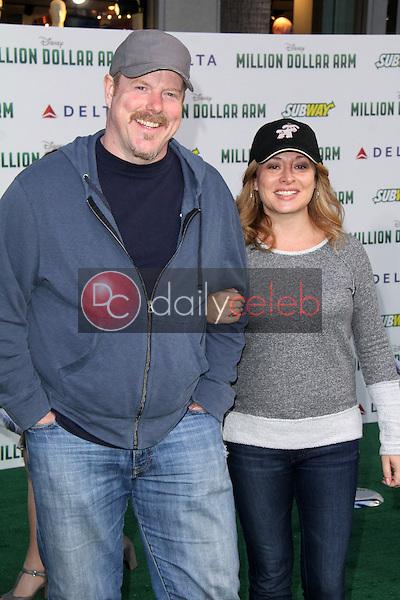 "John Dimaggio, Kate Miller<br /> at the ""Million Dollar Arm"" World Premiere, El Capitan, Hollywood, CA 05-06-14<br /> David Edwards/Dailyceleb.com 818-249-4998"
