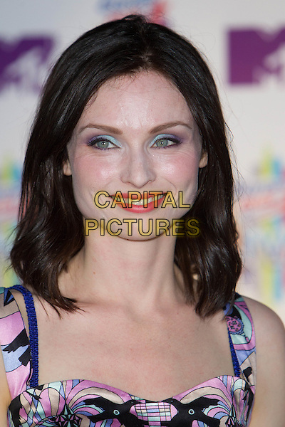 Sophie Ellis-Bextor.Concert in Moscow 'Europa Plus Live', Victory park, Moscow, Russia..July 30th, 2011.headshot portrait eyeshadow mouth open purple blue print .CAP/PER/SB.©SB/PersonaStars/CapitalPictures