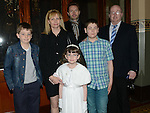 Stephanie Crone who received her first holy communion in St Mary's church pictured with her family. Photo:Colin Bell/pressphotos.ie