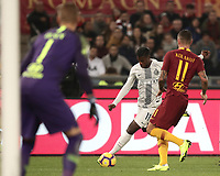 Football, Serie A: AS Roma - InterMilan, Olympic stadium, Rome, December 02, 2018. <br /> Inter&rsquo;s Keita Balde Diao (l) in action with Roma's Aleksandar Kolarov (r) during the Italian Serie A football match between Roma and Inter at Rome's Olympic stadium, on December 02, 2018.<br /> UPDATE IMAGES PRESS/Isabella Bonotto