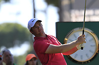 Sam Horsfield (ENG) tees off the 1st tee during Friday's Round 2 of the 2018 Turkish Airlines Open hosted by Regnum Carya Golf &amp; Spa Resort, Antalya, Turkey. 2nd November 2018.<br /> Picture: Eoin Clarke | Golffile<br /> <br /> <br /> All photos usage must carry mandatory copyright credit (&copy; Golffile | Eoin Clarke)