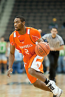 February 25, 2010:    Campbell guard Amir Celestin (2) during Atlantic Sun Conference action between the Jacksonville Dolphins and the Campbell Camels at Veterans Memorial Arena in Jacksonville, Florida.  Jacksonville defeated Campbell 65-52.
