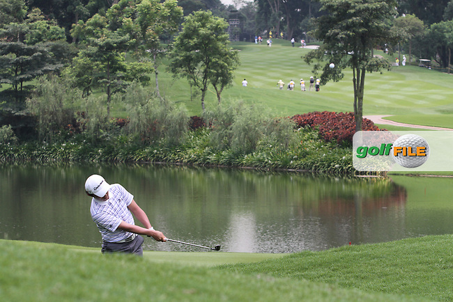 Lee Sung (KOR) on the 16th on Day 1 of the Maybank Malaysian Open 2012 at Kuala Lumpur Golf and Country Club, Kuala Lumpur, Malaysia...(Photo Jenny Matthews/www.golffile.ie)