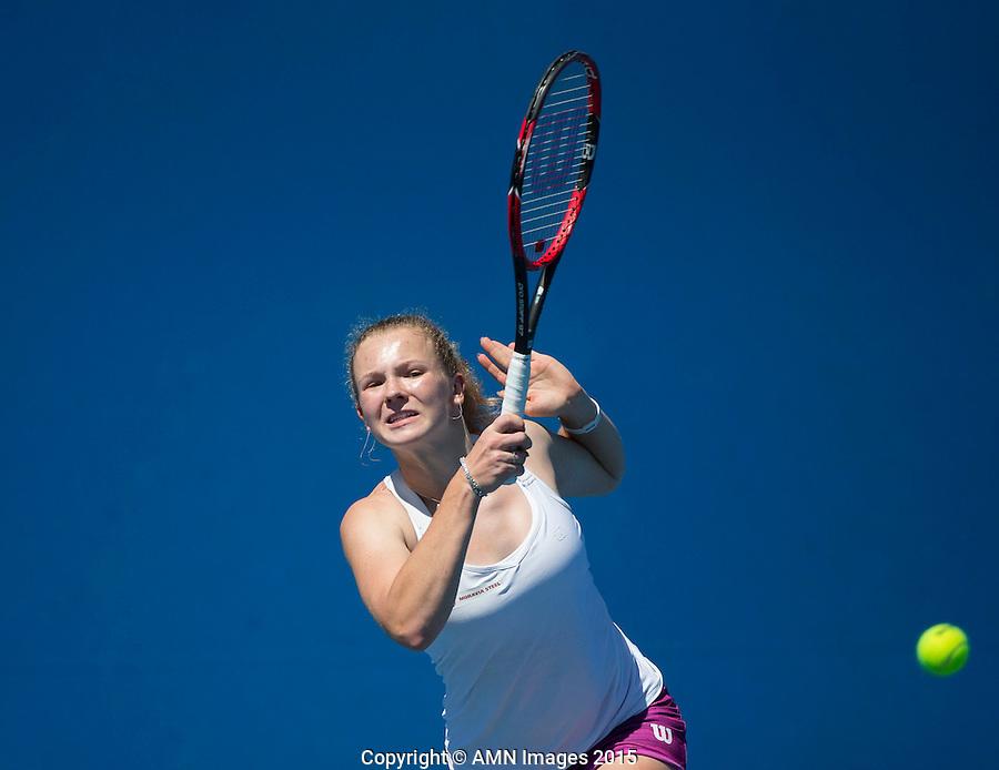 Katerina Siniakova (CZE)<br /> <br /> Tennis - Australian Open 2015 - Grand Slam -  Melbourne Park - Melbourne - Victoria - Australia  - 21 January 2015. <br /> &copy; AMN IMAGES
