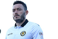 Craig Reid of Newport County during the Sky Bet League Two match between Newport County and Hartlepool United at Rodney Parade, Newport, Wales, UK. Saturday 28 January 2017