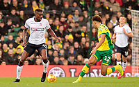 Bolton Wanderers' Sammy Ameobi tries to find a way past Norwich City's Jamal Lewis<br /> <br /> Photographer David Shipman/CameraSport<br /> <br /> The EFL Sky Bet Championship - Norwich City v Bolton Wanderers - Saturday 8th December 2018 - Carrow Road - Norwich<br /> <br /> World Copyright &copy; 2018 CameraSport. All rights reserved. 43 Linden Ave. Countesthorpe. Leicester. England. LE8 5PG - Tel: +44 (0) 116 277 4147 - admin@camerasport.com - www.camerasport.com