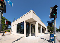 The new Oxy Arts community art center in Highland Park, located on the corner of York Blvd. and Armadale Ave. (4757 York Blvd.) photographed on April 24, 2019.<br /> (Photo by Marc Campos, Occidental College Photographer)