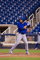 AZL Cubs designated hitter Carlos Sepulveda (16) at bat against the AZL Brewers on August 24, 2017 at Maryvale Baseball Park in Phoenix, Arizona. AZL Cubs defeated the AZL Brewers 9-1. (Zachary Lucy/Four Seam Images)