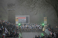 start of the UCI Cyclocross World Cup Namur/Belgium 2016 men's race on the famous Citadel de Namur