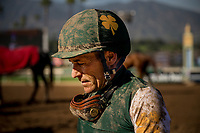 ARCADIA, CA - MARCH 11: Jockey, Gary Stevens returns from hip surgery to ride his first winner back at Santa Anita Park  on March 11, 2017 in Arcadia, California. (Photo by Alex Evers/Eclipse Sportswire/Getty Images)
