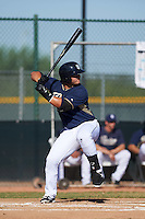 San Diego Padres Ty France (27) during an instructional league game against the Texas Rangers on October 9, 2015 at the Surprise Stadium Training Complex in Surprise, Arizona.  (Mike Janes/Four Seam Images)