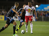 March 10th, 2013: Thierry Henry controls the ball away from Sam Cronin and Jason Hernandez during a game at Buck Shaw Stadium, Santa Clara, Ca.   Earthquakes defeated Red Bulls 2-1