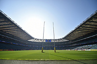A general view of the Twickenham Stadium pitch prior to the match. The Clash, Aviva Premiership match, between Bath Rugby and Leicester Tigers on April 8, 2017 at Twickenham Stadium in London, England. Photo by: Patrick Khachfe / Onside Images