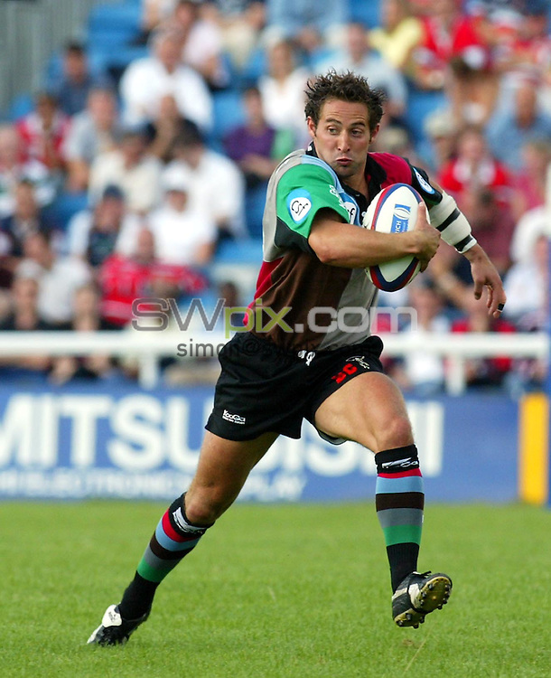 Pix: Rob Matthews/SWpix.com.  Rugby Union. Zurich Premiership. Harlequins v Gloucester. 31/08/2002...COPYRIGHT PICTURE>>SIMON WILKINSON>>01943 436649>>..Harlequins Ben Gollings.