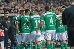 08.03.2019, Weser Stadion, Bremen, GER, 1.FBL, Werder Bremen vs FC Schalke 04, <br /> <br /> DFL REGULATIONS PROHIBIT ANY USE OF PHOTOGRAPHS AS IMAGE SEQUENCES AND/OR QUASI-VIDEO.<br /> <br />  im Bild<br /> <br /> jubel Max Kruse (Werder Bremen #10) Davy Klaassen (Werder Bremen #30)<br /> Theodor Gebre Selassie (Werder Bremen #23)<br /> Milot Rashica (Werder Bremen #11)<br /> Claudio Pizarro (Werder Bremen #04)<br /> <br /> Foto &copy; nordphoto / Kokenge