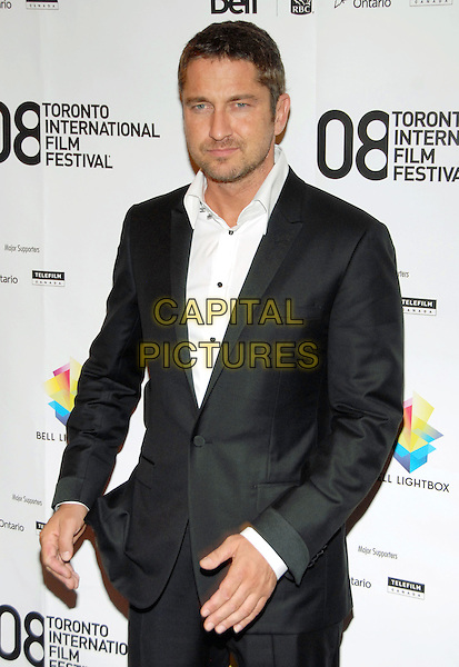 "GERARD BUTLER .""Rocknrolla"" Premiere during the 33rd Annual Toronto International Film Festival, Elgin Theatre, Toronto, Ontario, Canada, 04 September 2008. .half length white shirt  black suit jacket.CAP/ADM/BP.©Byron Purvis/Admedia/Capital PIctures"