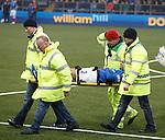 Darren Cole stretchered off