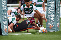 Brandon Nansen of the Dragons scores a second half try. Pre-season friendly match, between Ealing Trailfinders and the Dragons on August 11, 2018 at the Trailfinders Sports Ground in London, England. Photo by: Patrick Khachfe / Onside Images