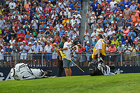 Brooks Koepka (USA) celebrates on 18 after winning the 100th PGA Championship at Bellerive Country Club, St. Louis, Missouri. 8/12/2018.<br /> Picture: Golffile | Ken Murray<br /> <br /> All photo usage must carry mandatory copyright credit (&copy; Golffile | Ken Murray)