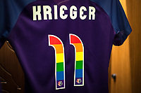 Orlando, FL - Saturday June 24, 2017: Ali Krieger's Jersey before a regular season National Women's Soccer League (NWSL) match between the Orlando Pride and the Houston Dash at Orlando City Stadium.