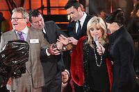 Jim Davidson, Linda Nolan, Emma Willis at Celebrity Big Brother 2014 - Contestants Enter The House, Borehamwood. 03/01/2014 Picture by: Henry Harris / Featureflash
