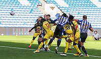 Sheffield Wednesday's Dominic Iorfa goes close with a header<br /> <br /> Photographer Alex Dodd/CameraSport<br /> <br /> The EFL Sky Bet Championship - Sheffield Wednesday v Watford - Saturday 19th September 2020 - Hillsborough Stadium - Sheffield <br /> <br /> World Copyright © 2020 CameraSport. All rights reserved. 43 Linden Ave. Countesthorpe. Leicester. England. LE8 5PG - Tel: +44 (0) 116 277 4147 - admin@camerasport.com - www.camerasport.com