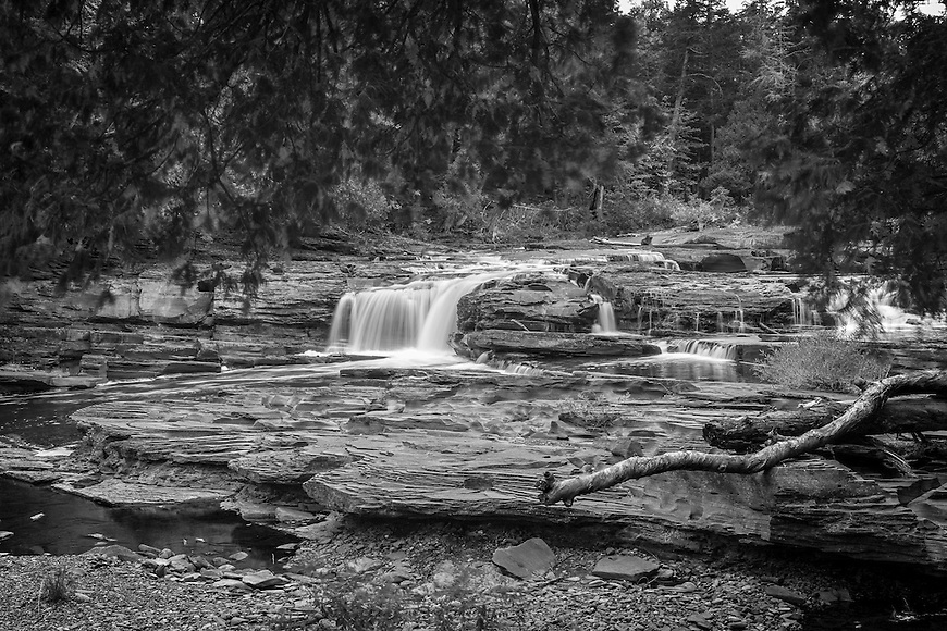 Nawadaha Falls in Porcupine Mountains State Park in the UP of Michigan