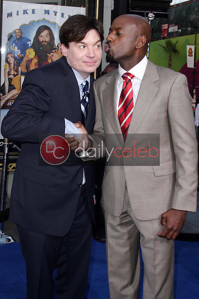 """Mike Myers and Romany Malco<br />at the Los Angeles Premiere of """"The Love Guru"""". Grauman's Chinese Theatre, Hollywood, CA. 06-11-08<br />Dave Edwards/DailyCeleb.com 818-249-4998"""