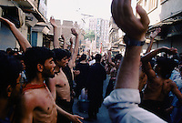 A Shiites procession in Peshawar, Pakistan