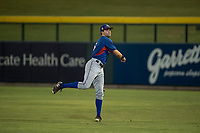AZL Rangers right fielder Ryan Anderson (6) warms up between innings of an Arizona League game against the AZL Cubs 2 at Sloan Park on July 7, 2018 in Mesa, Arizona. AZL Rangers defeated AZL Cubs 2 11-2. (Zachary Lucy/Four Seam Images)
