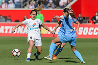 Bridgeview, IL - Saturday April 22, 2017: Lo'eau Labonta during a regular season National Women's Soccer League (NWSL) match between the Chicago Red Stars and FC Kansas City at Toyota Park.