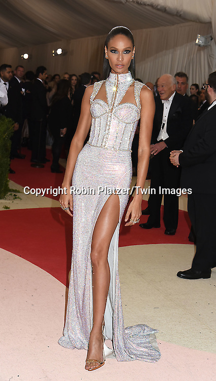 Joan Smalls attends the Metropolitan Museum of Art Costume Institute Benefit Gala on May 2, 2016 in New York, New York, USA. The show is Manus x Machina: Fashion in an Age of Technology. <br /> <br /> photo by Robin Platzer/Twin Images<br />  <br /> phone number 212-935-0770