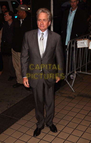 MICHAEL DOUGLAS .The New York City premiere of 'Solitary Man' at Cinema 2,  New York, NY, USA, 11th May 2010..arrivals full length  grey gray tie white shirt.CAP/ADM/PZ.©Paul Zimmerman/AdMedia/Capital Pictures.