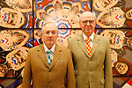 "Nov 19 2009 Athens Greece. Artist Gilbert and George present their new work the ""Jack Freak Pictures"" at the Bernier-Eliades gallery. Credit Aristidis Vafeiadakis/ZUMA Press."