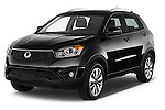 2014 Ssangyong Korando Sapphire 5 Door SUV Angular Front stock photos of front three quarter view