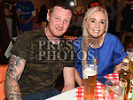 Gary Thornton and Emer Fitzsimons at the Italian night held in Watters Collon in aid of the Gary Kelly Cancer Support  Centre. Photo:Colin Bell/pressphotos.ie