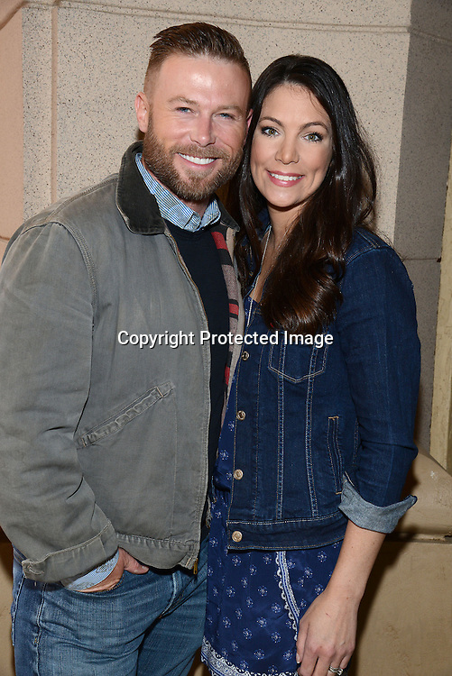 Jacob Young and wife Christine attends the 2015 Daytime Emmy Gifting Suite on April 25, 2015 at Warner Brothers Stuido Lot  in Burbank, California, USA. The gift lounge was presented by OffTheWallIdeas.com.