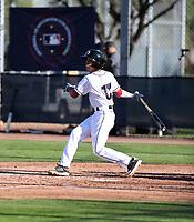 Fraymi De Leon participates in the MLB International Showcase at Salt River Fields on November 12-14, 2019 in Scottsdale, Arizona (Bill Mitchell)