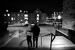 VA Tech campus at night the day of the shootings occurred)...photo: Hector Emanuel