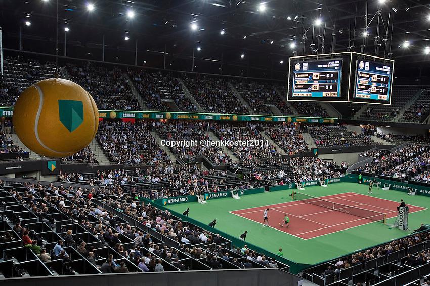 2011-02-08, Tennis, Rotterdam, ABNAMROWTT,   Algemeen, Ahoy buiten, binnen.