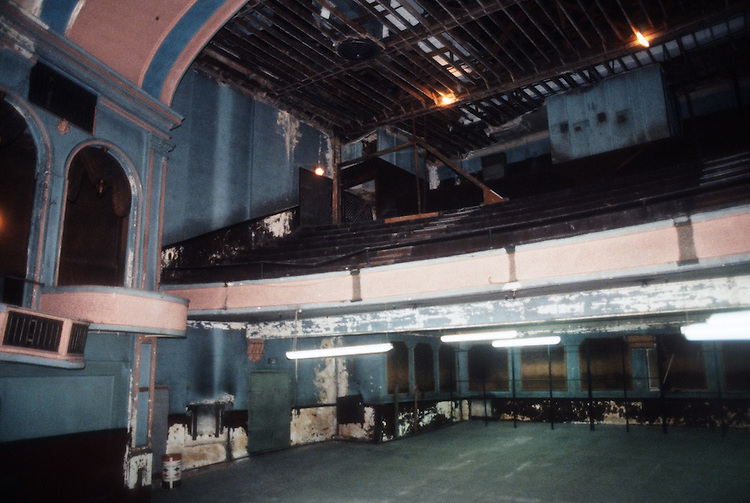 1993 February ..Rehabilitation..Attucks Theatre.Church Street..THEATRE FROM STAGE.LOOKING AT LEFT SIDE OF ORCHESTRA, BALCONY, & BOXES.INTERIOR...NEG#.NRHA#..