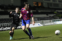 Sean Kelly plays the ball back in the St Mirren v Celtic Clydesdale Bank Scottish Premier League U20 match played at St Mirren Park, Paisley on 18.12.12.