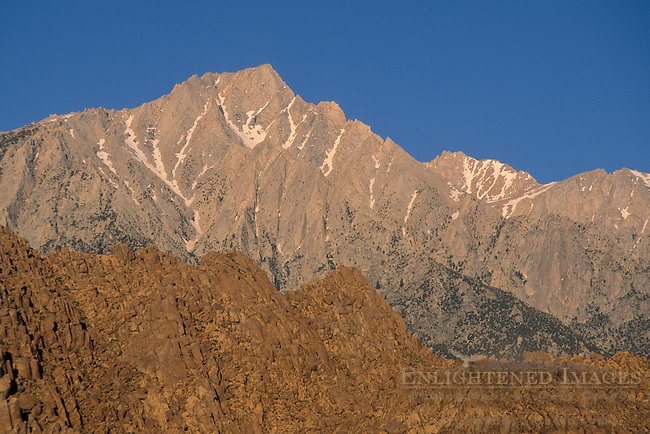 Lone Pine Peak as seen from the Alabama Hills, near Lone Pine, Eastern Sierra, California