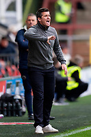 Fleetwood Town manager Joey Barton gestures<br /> <br /> Photographer Richard Martin-Roberts/CameraSport<br /> <br /> The EFL Sky Bet League One - Fleetwood Town v Shrewsbury Town - Saturday 13th October 2018 - Highbury Stadium - Fleetwood<br /> <br /> World Copyright &not;&copy; 2018 CameraSport. All rights reserved. 43 Linden Ave. Countesthorpe. Leicester. England. LE8 5PG - Tel: +44 (0) 116 277 4147 - admin@camerasport.com - www.camerasport.com