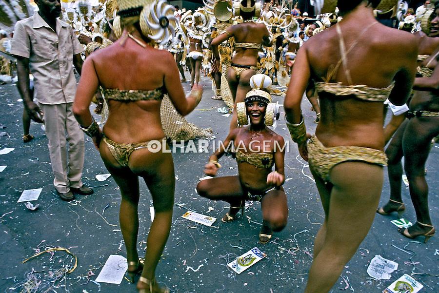 Desfile de carnaval da Imperatriz Leopoldinense. Rio de Janeiro. I983. Foto de Juca Martins.