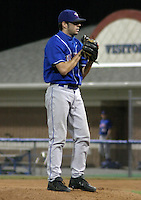 July 26, 2003:  Pitcher Shaun Marcum of the Auburn Doubledays, Class-A affiliate of the Toronto Blue Jays, during a game at Dwyer Stadium in Batavia, NY.  Photo by:  Mike Janes/Four Seam Images
