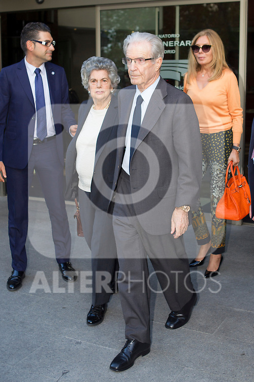 Antonio Garrigues Walker visits San Isidro funeral home following the death of Miguel Boyer in Madrid, Spain. September 29, 2014. (ALTERPHOTOS/Victor Blanco)