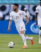 CHARLOTTE, NC - JUNE 23: Jonathan Osorio #21 during a game between Cuba and Canada at Bank of America Stadium on June 23, 2019 in Charlotte, North Carolina.