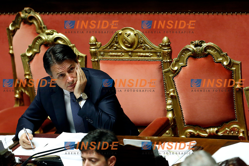 Giuseppe Conte<br /> Rome September 10th 2019. Senate. Discussion and Trust vote at the new Government. <br /> Foto  Samantha Zucchi Insidefoto
