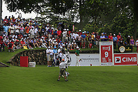 On the 9th tee during Round 3 of the CIMB Classic in the Kuala Lumpur Golf & Country Club on Saturday 1st November 2014.<br /> Picture:  Thos Caffrey / www.golffile.ie